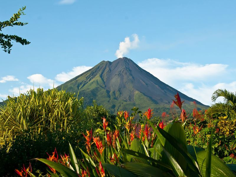 arenal volcano floral views