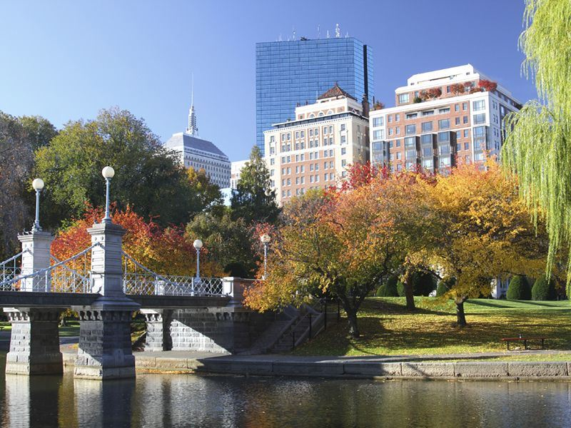 autumn in boston massachusetts