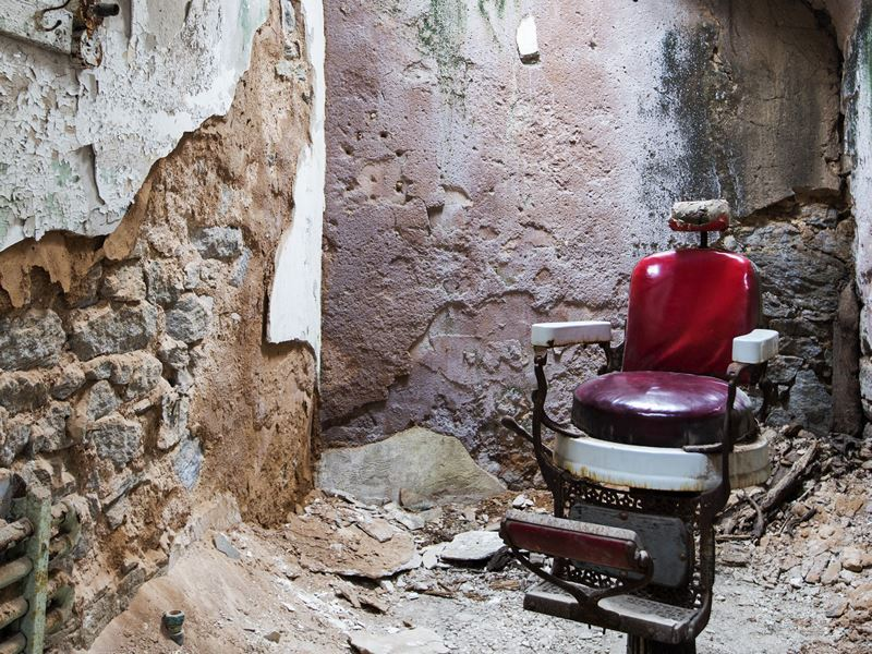 Barber chair, Eastern State Penitentiary, Philadelphia