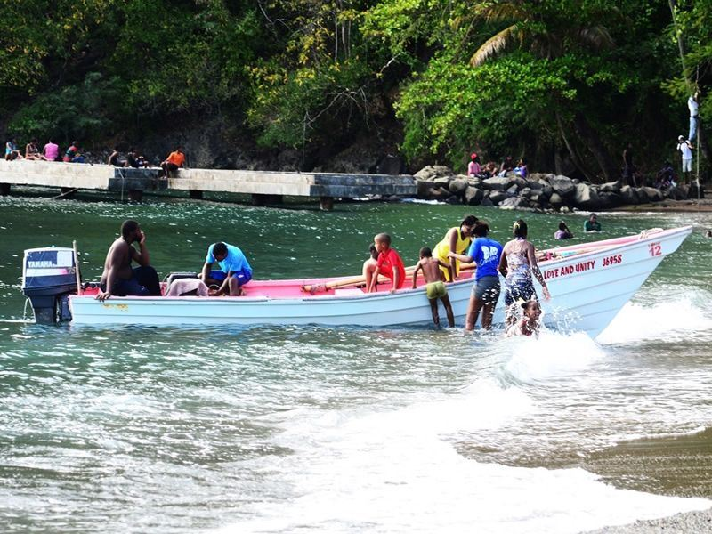 beach fun on a sunday in soufriere