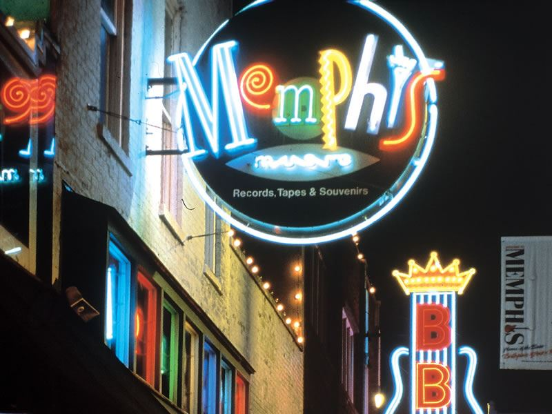 Beale Street at night, Memphis