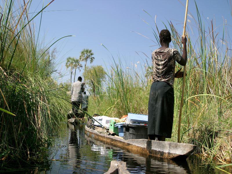 boating through the okavengo delta