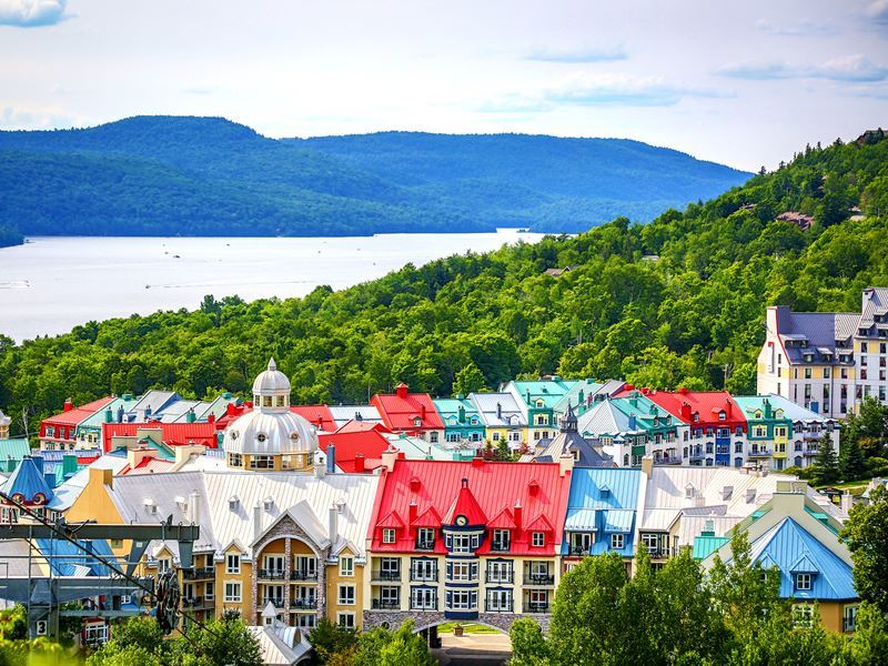 colourful mont tremblant village quebec