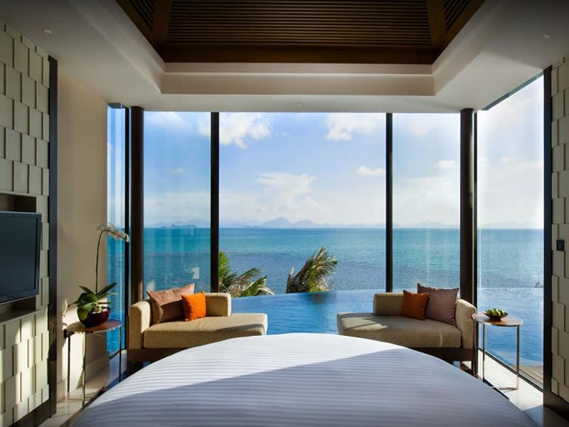 conrad royal oceanview pool villa koh samui