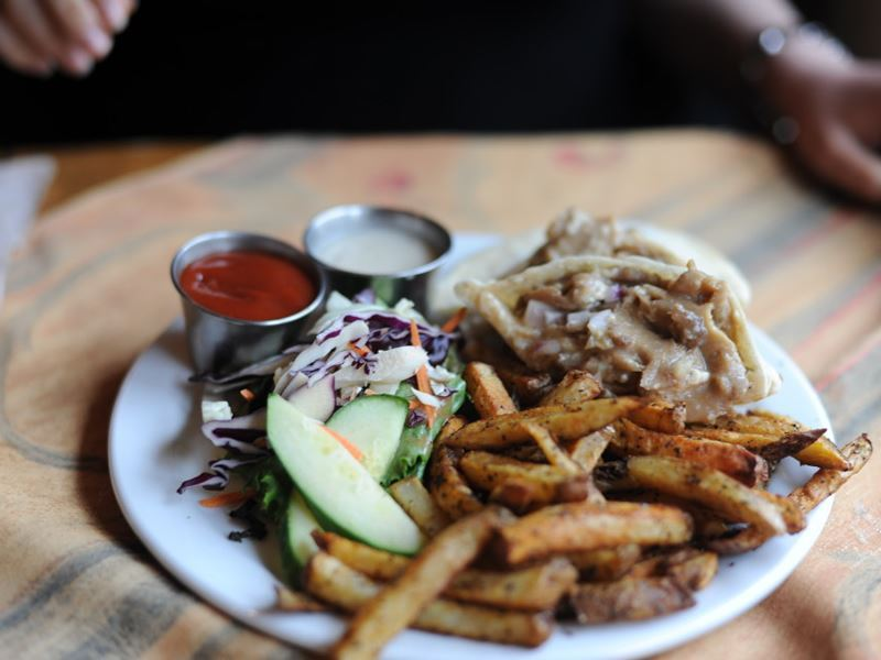 dining at the wooden monkey nova scotia