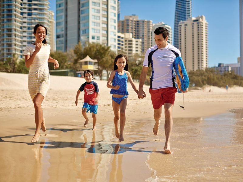 family on surfers paradise gold coast   tourism australia