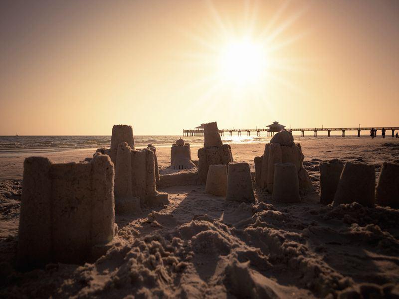 Fort Myers sandcastles