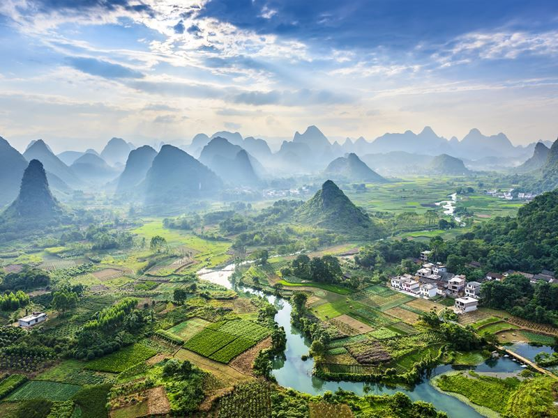 guilin landscape guangxi province china