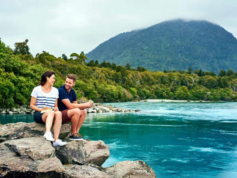 haast west coast couple by river