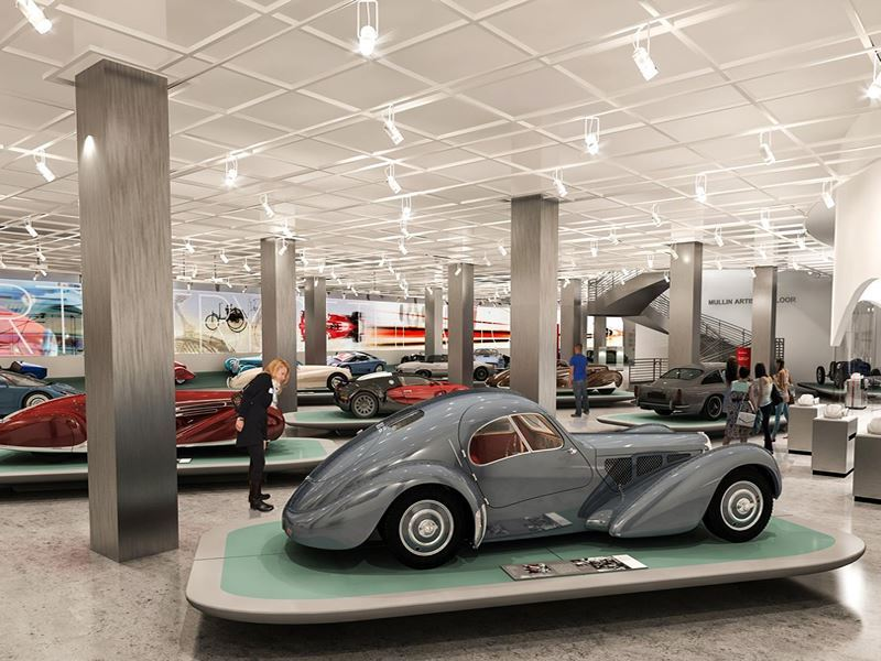 inside petersen automotive museum