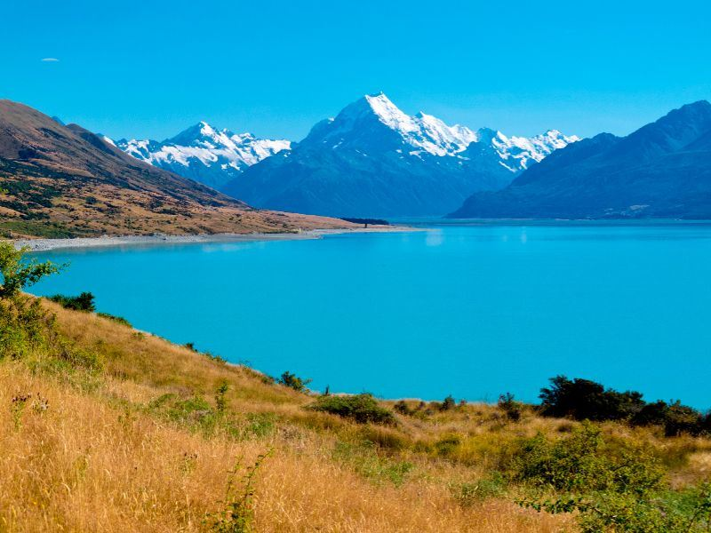 lake pukaki and mt cook south island