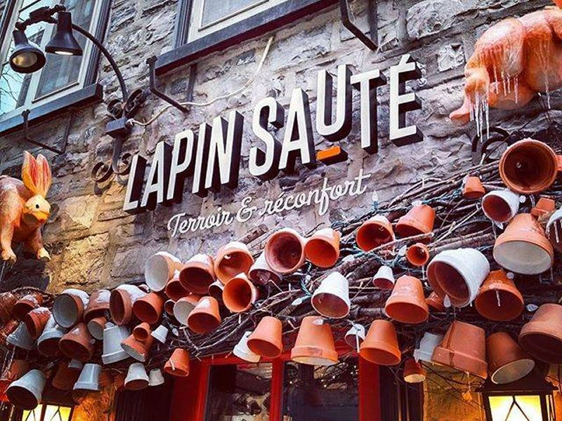 lapin saute restaurant quebec city