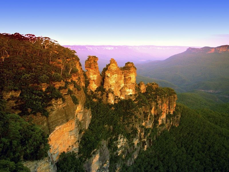 magnificent blue mountains scenery new south wales australia