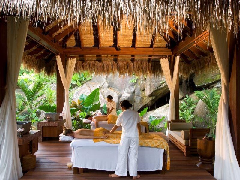 maia luxury resort  spa   aerial ocean panoramic villa 2