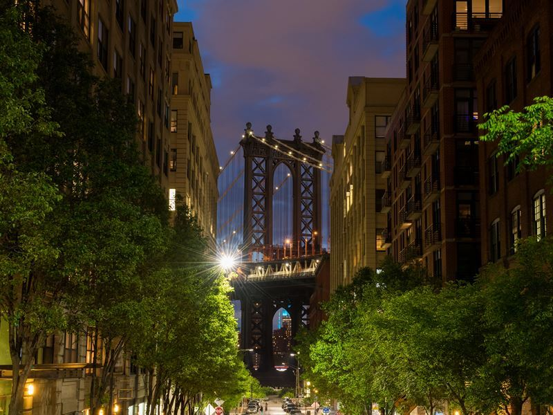 manhattan bridge from brooklyn
