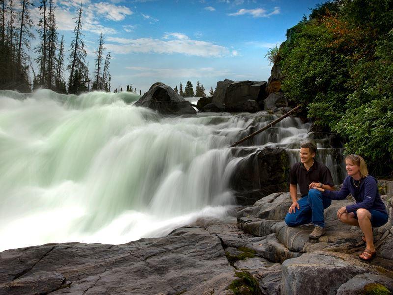 nistowiak falls lac la ronge provincial park saskatchewan