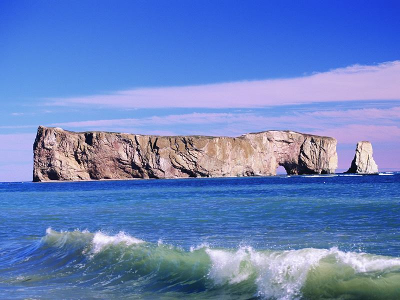 perce rock gaspe peninsula quebec