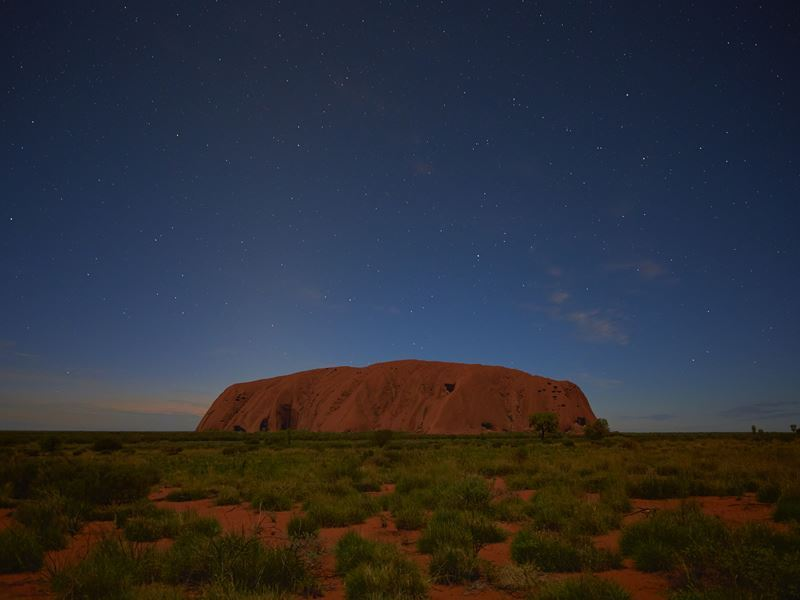 pre dawn in the heart of the australian outback