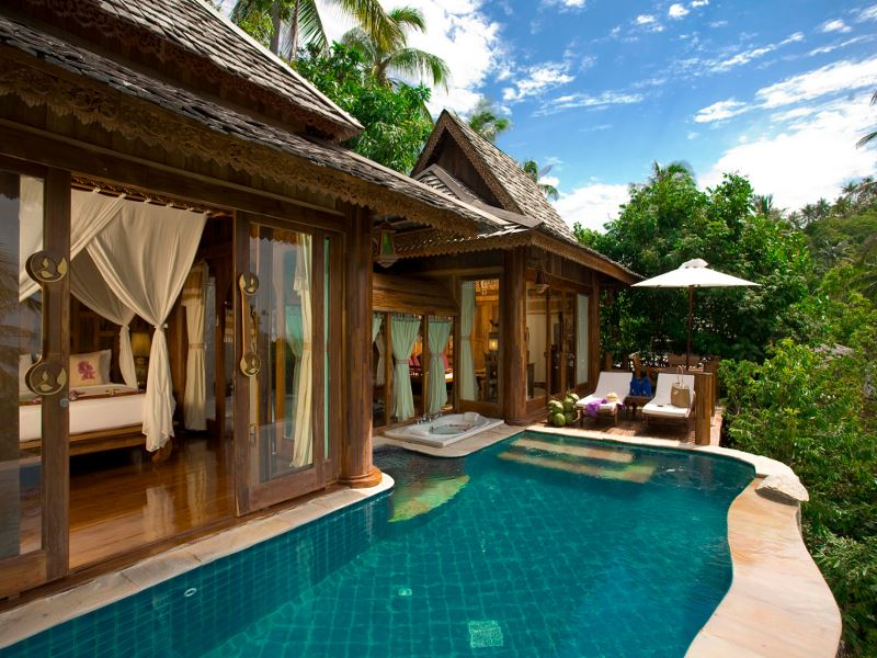 private pool at santhiya resort  spa