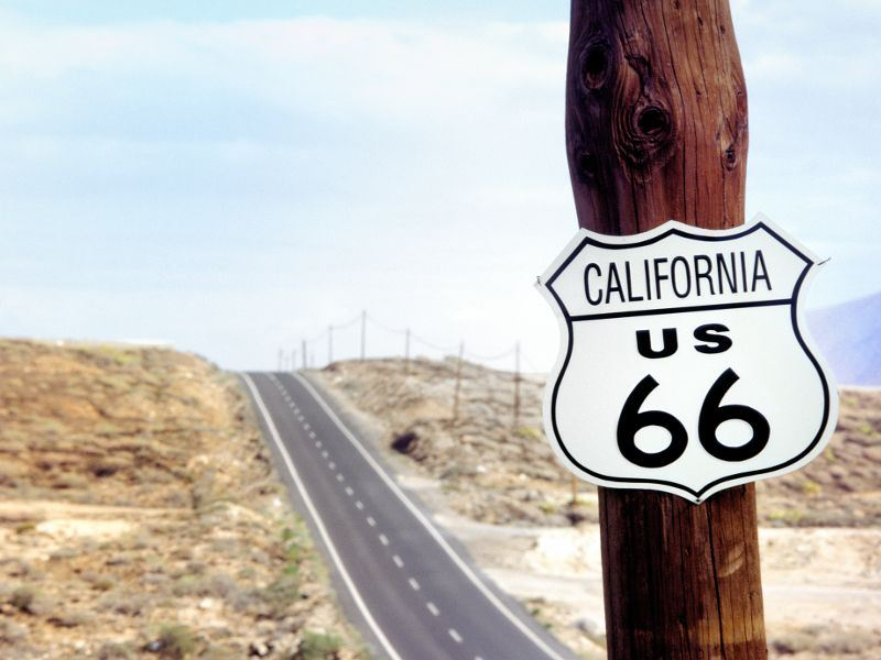 route 66 sign california