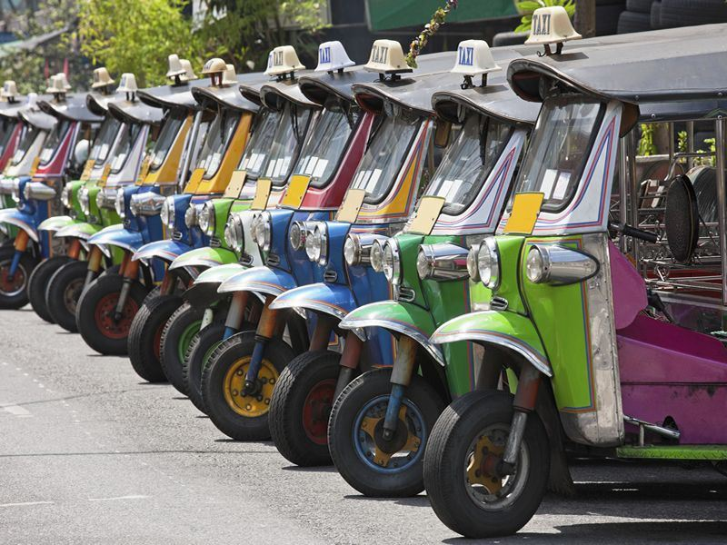 Row of Tuk Tuks in Bangkok