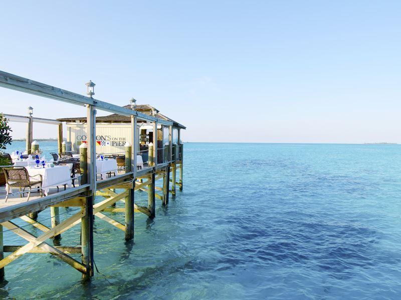 sandals royal bahamian gordons on the pier restaurant
