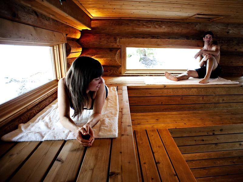 Scandinave Spa sauna, Whistler