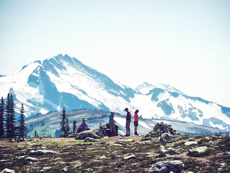 spring hike on whistler mountain