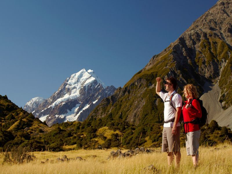 trekking mt cook   christchurch  canterbury tourism