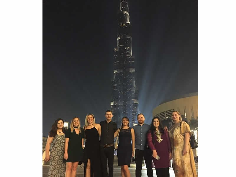 tropical sky team at burj khalifa