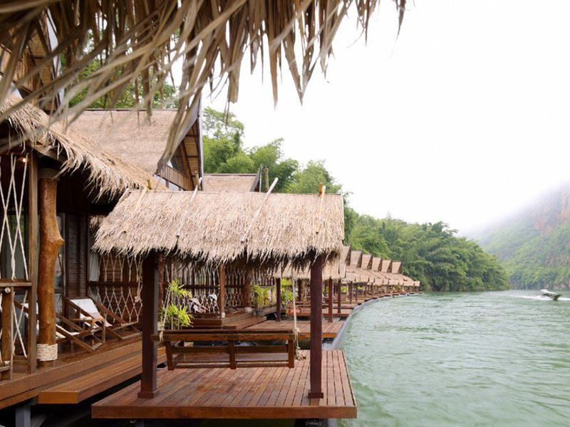 villa deck at float house river kwai