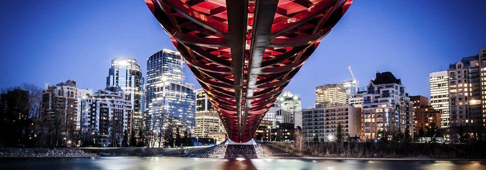 Calgary Skyline with Peace Bridge