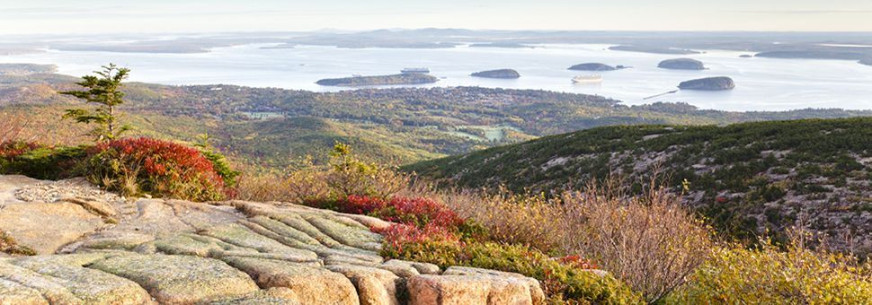 Overlooking Bar Harbor from Acadia National Park