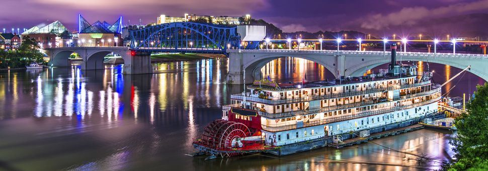 Paddleboat on the river in Chattanooga, Tennessee