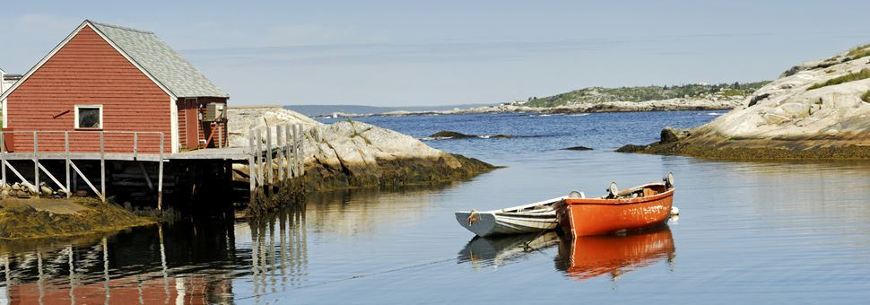 Peggy's Cove harbour near Halifax, Nova Scotia