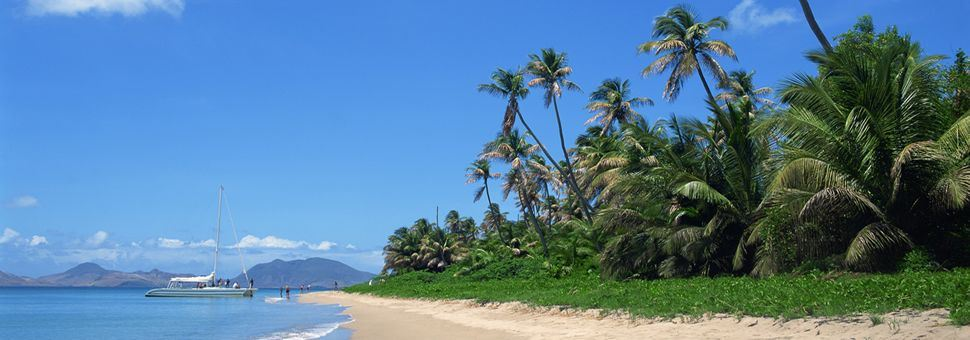 On the beach in St Kitts