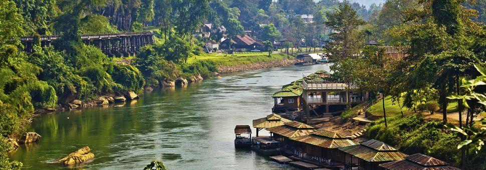 River Kwai and rail, Kanchanaburi, Thailand